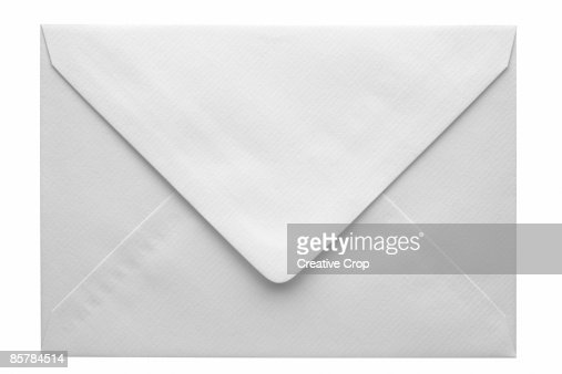 Back of a white envelope : Foto de stock