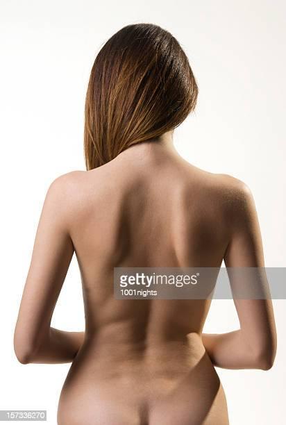 back of beautiful woman