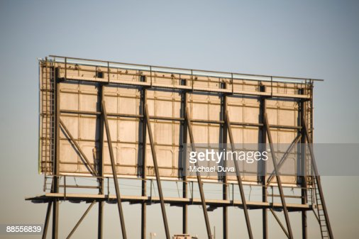 back of billboard advertising sign : Stock Photo