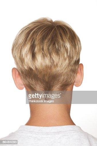 Back Of Blonde Boys Head Stock Photo Getty Images