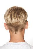 Back of blonde boy's head