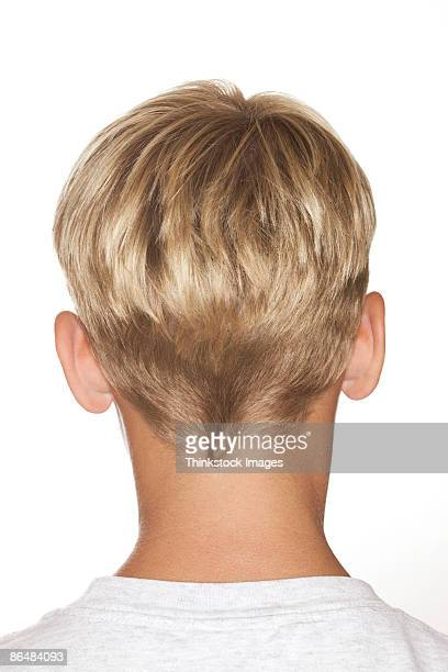 Back of blonde boy's head