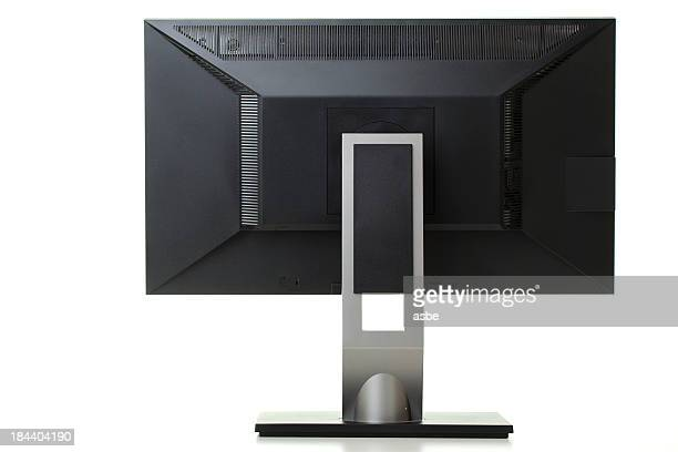 Back of Lcd Monitor with Clipping Path