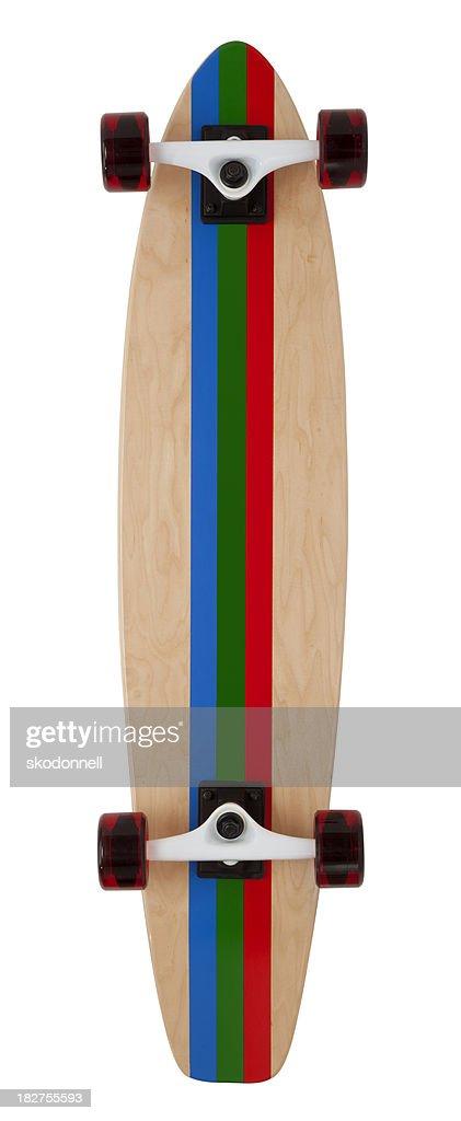 Back of Skateboard on White