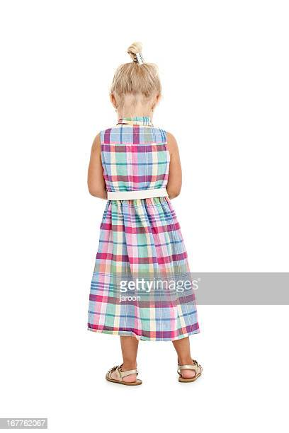 back of small girl standing