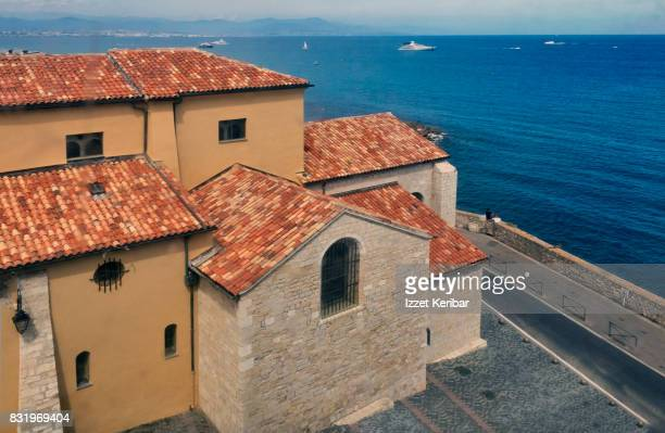 Back of the Antibes Cathedral, near the seadside, Antibes, Alpes Maritimes, France