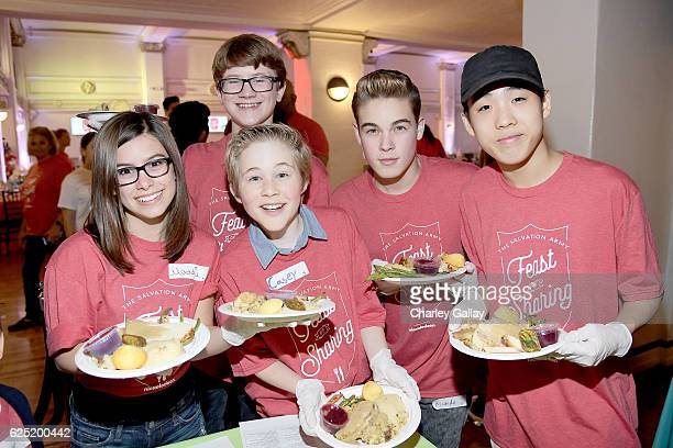 Back Row Actor Aidan Miner from School of Rock Front Row Actors Madisyn Shipman from Game Shakers Casey Simpson from Nicky Ricky Dicky Dawn Ricardo...