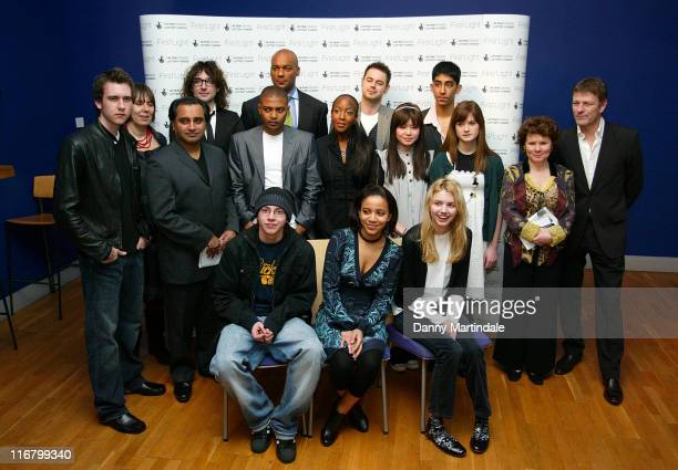Back Row Alex Zane Colin Salmon Danny Dyer Middle Row Sanjeev Bhaskar Noel Clarke Angellica Bell Katie Leung Bonnie Wright Imelda Staunton and Sean...