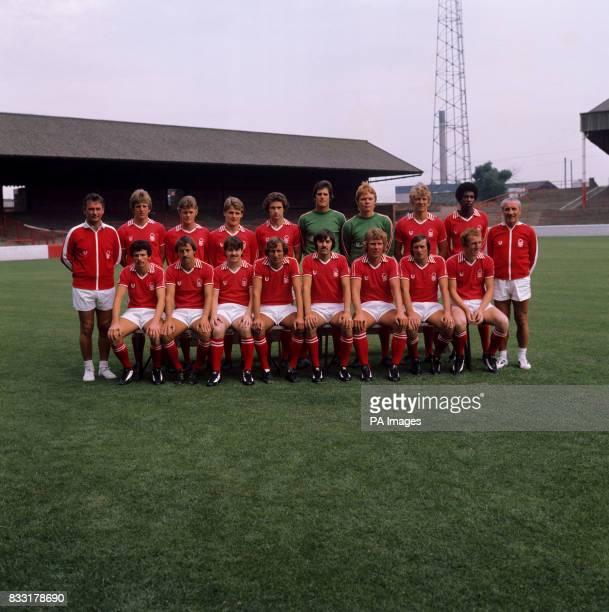 Brian Clough John Cottam Glyn Saunders Jim McCann Martin O'Neil John Middleton Peter Wells Colin Barrett Viv Anderson and Jimmy Gordon Front Row...