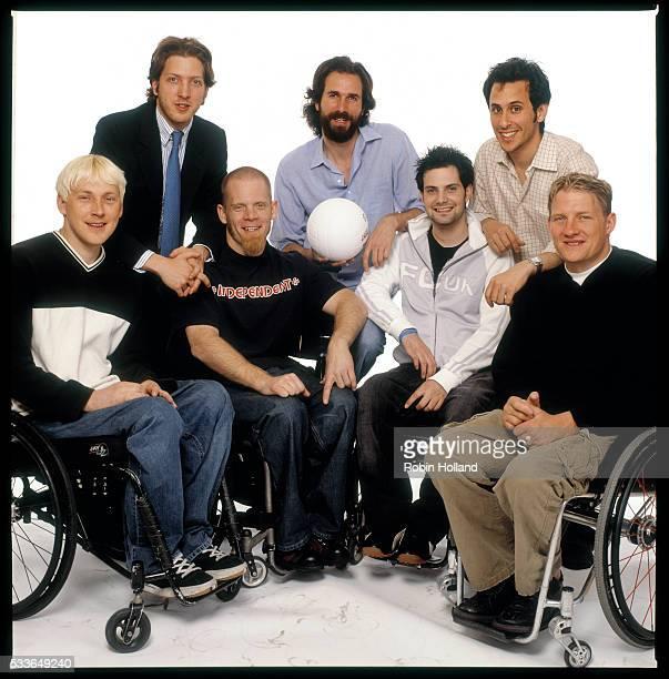Directors Henry Alex Rubin and Dana Adam Shapiro producer Jeff Mandel Front row Andy Cohn Mark Zupan Keith Cavill and Scott Hogsett all members of...