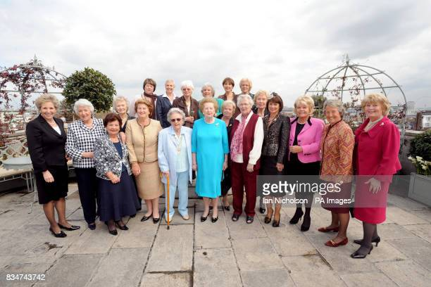 Sylvia Tidy Jean Ratcliff Colleen Rumsey Bette Hill Anita Harris Maggie Smith Front row l to r Lady Norma Major Rosa Tidy Lady Myra Secombe Barbara...