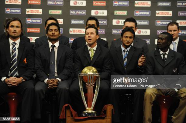 Daniel Vettori Shahid Afridi MS Dhoni Graeme Smith Andrew Strauss Front Row Peter Borren Kumar Sangakkara Ricky Ponting Shakib Al Hasan Jimmy Kamande...