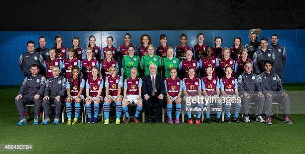 BIRMINGHAM ENGLAND MARCH Back Row left to right Rus Smith Amy West Courtney Owen Alicia Robinson Abi Cottam Jade Richards Maisie Baker Emily Owen...