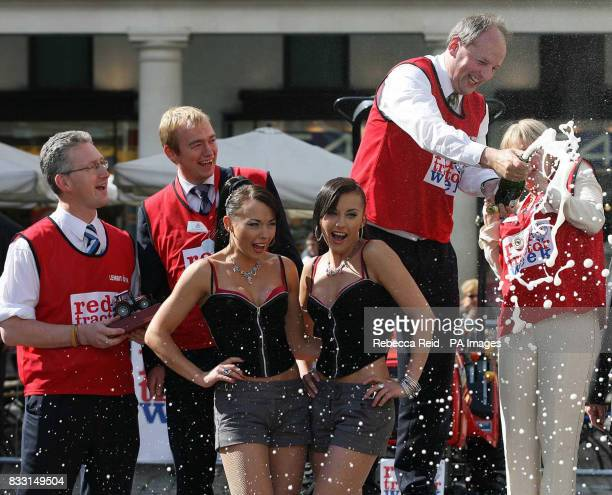 Liberal Democrat MPs Lembit Opik and Tim Farron Lib Dem Lord Rupert Redesdale and Conservative MP Nadine Dorries along with the Cheeky Girls Monica...