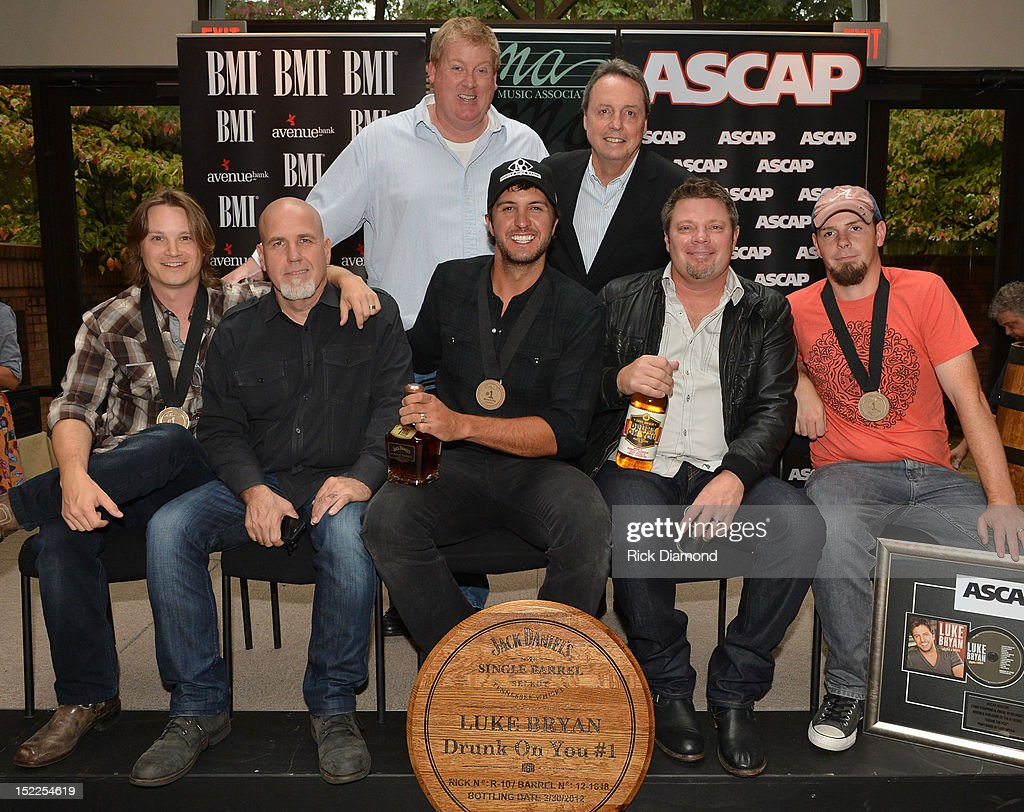 Mike Sistad ASCAP and Jody Williams BMI. Front row: <a gi-track='captionPersonalityLinkClicked' href=/galleries/search?phrase=Josh+Kear&family=editorial&specificpeople=4290587 ng-click='$event.stopPropagation()'>Josh Kear</a> (ASCAP) Producer Jeff Stevens, <a gi-track='captionPersonalityLinkClicked' href=/galleries/search?phrase=Luke+Bryan&family=editorial&specificpeople=4001956 ng-click='$event.stopPropagation()'>Luke Bryan</a> (BMI) Rodney Clawson (BMI) and Chris Tompkins (ASCAP) at The BMI, ASCAP & CMA # 1 Party For 'Drunk On You' Performed By <a gi-track='captionPersonalityLinkClicked' href=/galleries/search?phrase=Luke+Bryan&family=editorial&specificpeople=4001956 ng-click='$event.stopPropagation()'>Luke Bryan</a> (BMI) Co-Writers Rodney Clawson (BMI) Josh Kerr (ASCAP) and Chris Thompkins (ASCAP) at CMA Office on September 17, 2012 in Nashville, Tennessee.