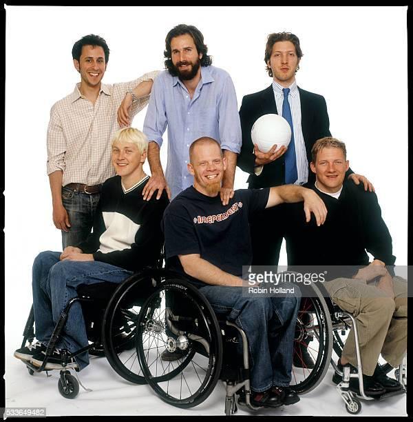 Producer Jeff Mandel and directors Dana Adam Shapiro and Henry Alex Rubin Front row Andy Cohn Mark Zupan and Scott Hogsett all members of the US Quad...