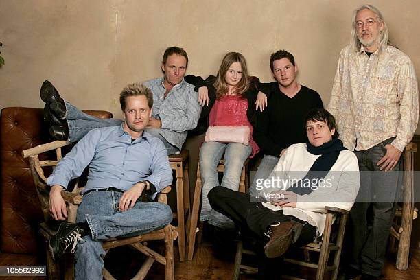 Robert Knott Tara Devon Gallagher Shawn Hatosy and Rodney Taylor Front row Doug Sadler director of 'Swimmers' and Michael Mosley