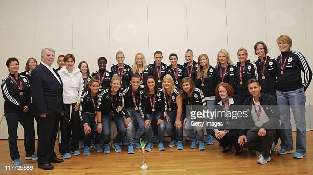 back row Sabine Seidel Rosalinde Kottmann Dr hc Engelbert Nelle Bettina Wiegmann Ivana Rudelic Nicole Rolser Eunice Beckmann Johanna Elsig Lisa...