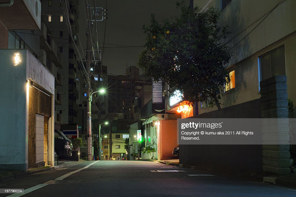 Back street of Tokyo : Stock Photo