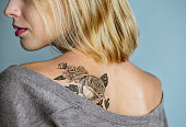 Back tattoo of a woman  ***These are our own 3D generic designs. They do not infringe on any copyrighted designs.***