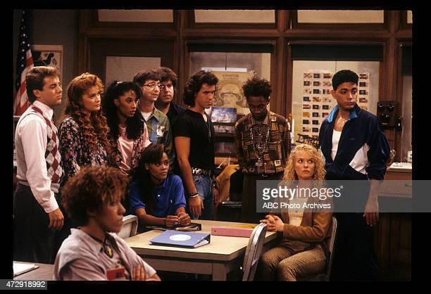 CLASS 'Back to School' Airdate September 27 1989 LR TONY O'DELLKHRYSTYNE HAJERAIN PRYORKIMBERLY RUSSELLDAN FRISCHMANROBIN GIVENSDAN SCHNEIDERBRIAN...