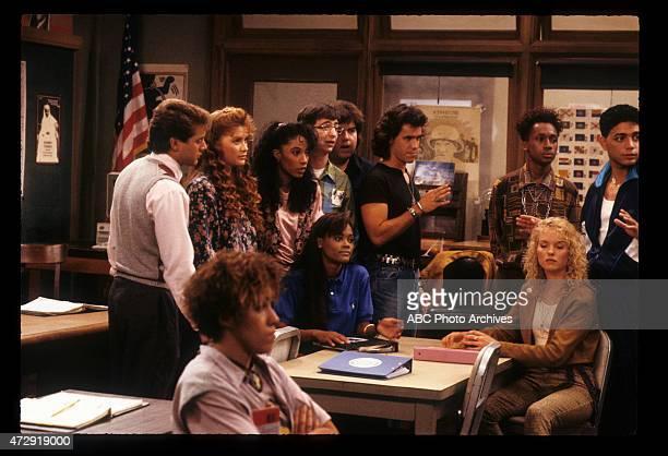 CLASS 'Back to School' Airdate September 27 1989 LR TONY O'DELLRAIN PRYORKHRYSTYNE HAJEKIMBERLY RUSSELLROBIN GIVENSDAN FRISCHMANDAN SCHNEIDERBRIAN...