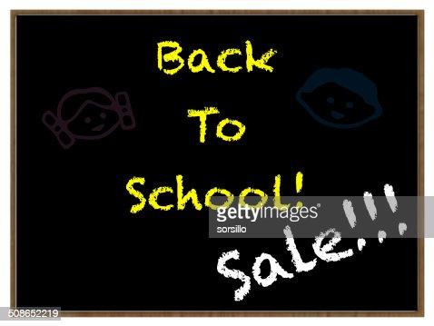 back to school blackboard : Stock Photo