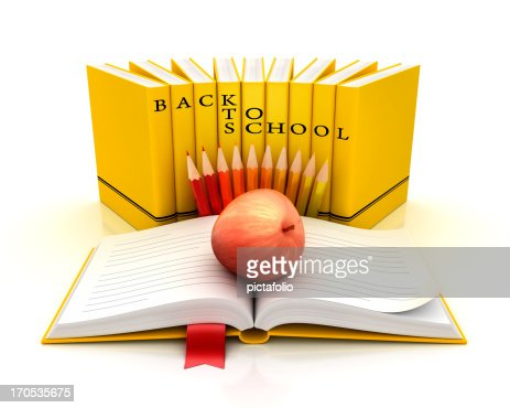 back to school bus like books : Stock Photo