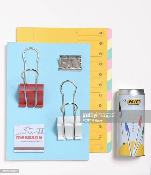 In My Small Paper Pour égayer la rentrée le bureau des grandes personnes prend des couleurs canette contenant des stylos bille de couleurs Bic trieur...