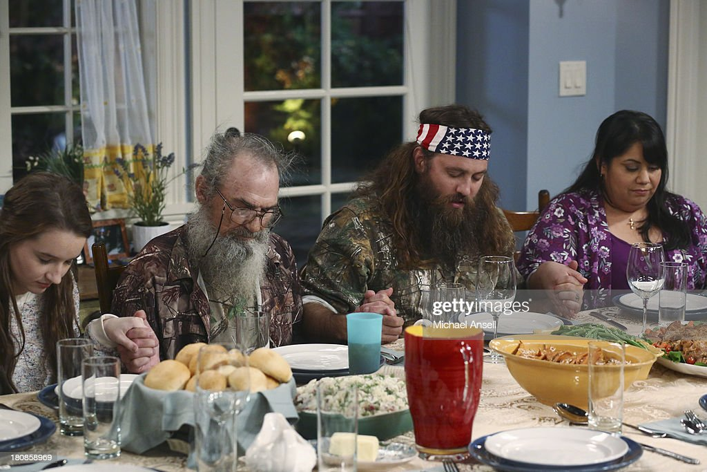 STANDING - 'Back to School' - Willie Robertson and his uncle, Si Robertson, two of the stars from the hit reality show A&E's 'Duck Dynasty,' will make their acting debut when they guest star in the Season Premiere of 'Last Man Standing,' FRIDAY, SEPTEMBER 20 (8:00-8:31 p.m., ET) on the ABC Television Network. In the episode, 'Back to School,' Mike finds that Mandy's steady boyfriend Kyle's new interest in philosophy is distracting him from his work at The Outdoor Man Store. A solution may be in the offing when camo-wearing and regular customers Brody (Willie Robertson) and Uncle Ray (Si Robertson) come to the sporting goods store to get outfitted for their annual moose hunting expedition. Meanwhile, Mike is skeptical about his grandson Boyd attending a bilingual school and wants Kristin and Ryan to switch Boyd to a school in his neighborhood. JIMENEZ