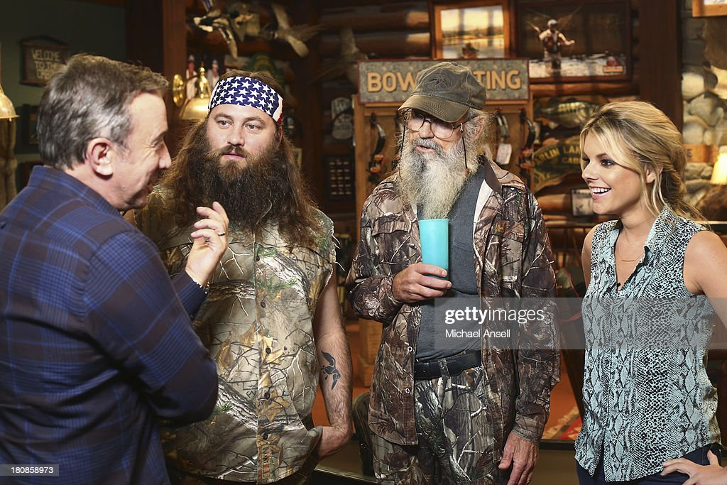 STANDING - 'Back to School' - Willie Robertson and his uncle, Si Robertson, two of the stars from the hit reality show A&E's 'Duck Dynasty,' will make their acting debut when they guest star in the Season Premiere of 'Last Man Standing,' FRIDAY, SEPTEMBER 20 (8:00-8:31 p.m., ET) on the ABC Television Network. In the episode, 'Back to School,' Mike finds that Mandy's steady boyfriend Kyle's new interest in philosophy is distracting him from his work at The Outdoor Man Store. A solution may be in the offing when camo-wearing and regular customers Brody (Willie Robertson) and Uncle Ray (Si Robertson) come to the sporting goods store to get outfitted for their annual moose hunting expedition. Meanwhile, Mike is skeptical about his grandson Boyd attending a bilingual school and wants Kristin and Ryan to switch Boyd to a school in his neighborhood. TIM