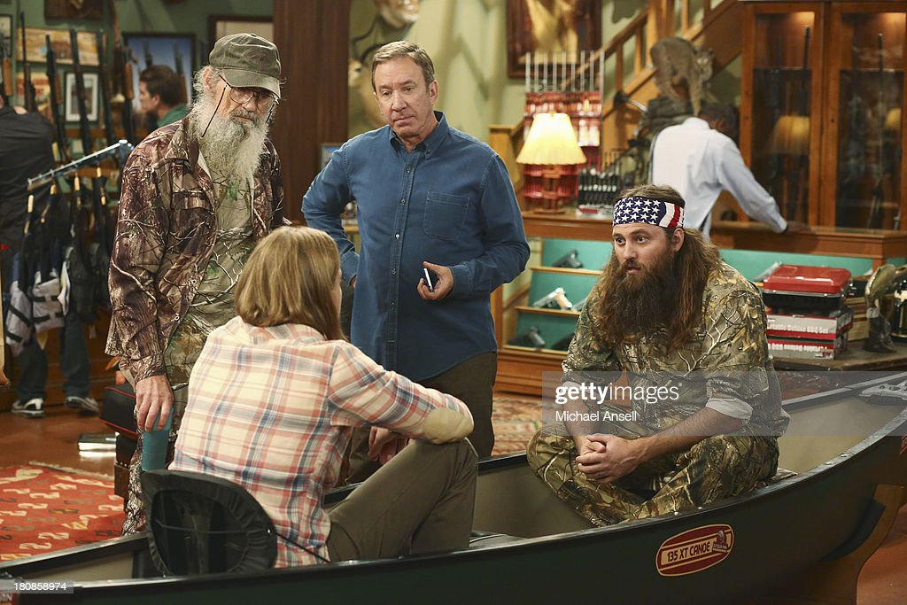 STANDING - 'Back to School' - Willie Robertson and his uncle, Si Robertson, two of the stars from the hit reality show A&E's 'Duck Dynasty,' will make their acting debut when they guest star in the Season Premiere of 'Last Man Standing,' FRIDAY, SEPTEMBER 20 (8:00-8:31 p.m., ET) on the ABC Television Network. In the episode, 'Back to School,' Mike finds that Mandy's steady boyfriend Kyle's new interest in philosophy is distracting him from his work at The Outdoor Man Store. A solution may be in the offing when camo-wearing and regular customers Brody (Willie Robertson) and Uncle Ray (Si Robertson) come to the sporting goods store to get outfitted for their annual moose hunting expedition. Meanwhile, Mike is skeptical about his grandson Boyd attending a bilingual school and wants Kristin and Ryan to switch Boyd to a school in his neighborhood. SI