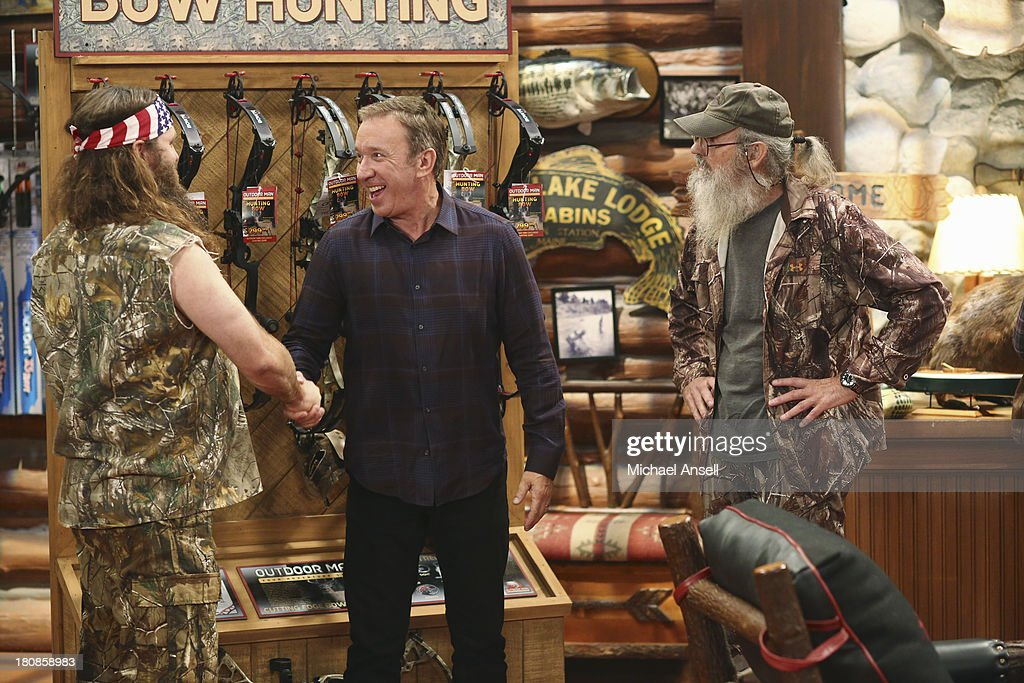 STANDING - 'Back to School' - Willie Robertson and his uncle, Si Robertson, two of the stars from the hit reality show A&E's 'Duck Dynasty,' will make their acting debut when they guest star in the Season Premiere of 'Last Man Standing,' FRIDAY, SEPTEMBER 20 (8:00-8:31 p.m., ET) on the ABC Television Network. In the episode, 'Back to School,' Mike finds that Mandy's steady boyfriend Kyle's new interest in philosophy is distracting him from his work at The Outdoor Man Store. A solution may be in the offing when camo-wearing and regular customers Brody (Willie Robertson) and Uncle Ray (Si Robertson) come to the sporting goods store to get outfitted for their annual moose hunting expedition. Meanwhile, Mike is skeptical about his grandson Boyd attending a bilingual school and wants Kristin and Ryan to switch Boyd to a school in his neighborhood. WILLIE
