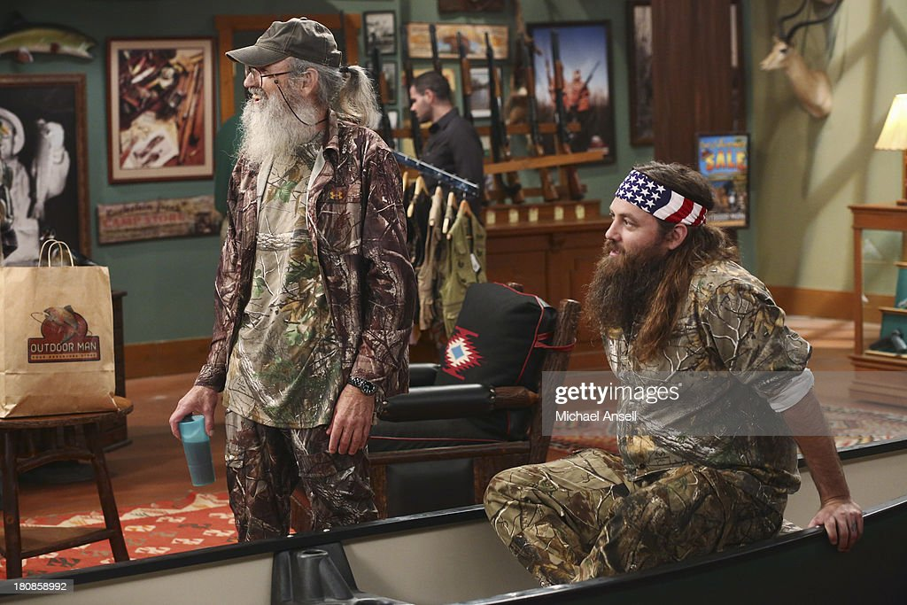 STANDING - 'Back to School' - Willie Robertson and his uncle, Si Robertson, two of the stars from the hit reality show A&E's 'Duck Dynasty,' will make their acting debut when they guest star in the Season Premiere of 'Last Man Standing,' FRIDAY, SEPTEMBER 20 (8:00-8:31 p.m., ET) on the ABC Television Network. In the episode, 'Back to School,' Mike finds that Mandy's steady boyfriend Kyle's new interest in philosophy is distracting him from his work at The Outdoor Man Store. A solution may be in the offing when camo-wearing and regular customers Brody (Willie Robertson) and Uncle Ray (Si Robertson) come to the sporting goods store to get outfitted for their annual moose hunting expedition. Meanwhile, Mike is skeptical about his grandson Boyd attending a bilingual school and wants Kristin and Ryan to switch Boyd to a school in his neighborhood. ROBERTSON