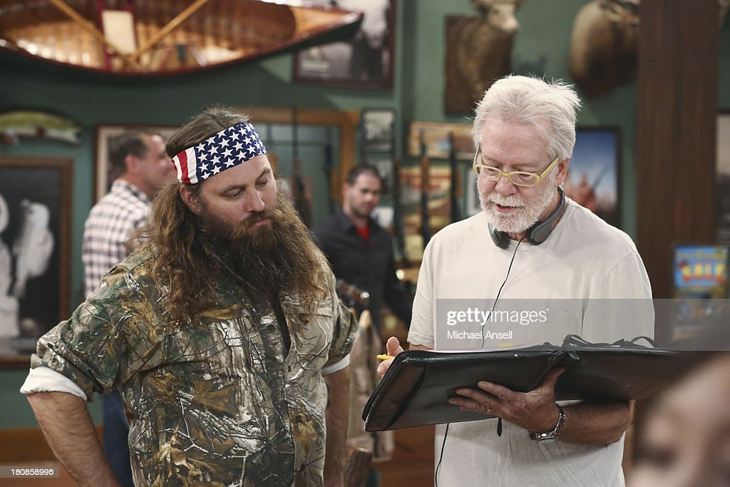 STANDING - 'Back to School' - Willie Robertson and his uncle, Si Robertson, two of the stars from the hit reality show A&E's 'Duck Dynasty,' will make their acting debut when they guest star in the Season Premiere of 'Last Man Standing,' FRIDAY, SEPTEMBER 20 (8:00-8:31 p.m., ET) on the ABC Television Network. In the episode, 'Back to School,' Mike finds that Mandy's steady boyfriend Kyle's new interest in philosophy is distracting him from his work at The Outdoor Man Store. A solution may be in the offing when camo-wearing and regular customers Brody (Willie Robertson) and Uncle Ray (Si Robertson) come to the sporting goods store to get outfitted for their annual moose hunting expedition. Meanwhile, Mike is skeptical about his grandson Boyd attending a bilingual school and wants Kristin and Ryan to switch Boyd to a school in his neighborhood. PASQUIN