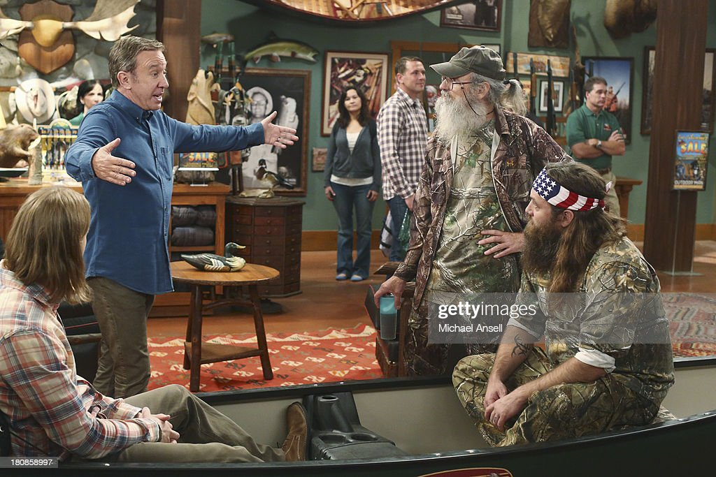 STANDING - 'Back to School' - Willie Robertson and his uncle, Si Robertson, two of the stars from the hit reality show A&E's 'Duck Dynasty,' will make their acting debut when they guest star in the Season Premiere of 'Last Man Standing,' FRIDAY, SEPTEMBER 20 (8:00-8:31 p.m., ET) on the ABC Television Network. In the episode, 'Back to School,' Mike finds that Mandy's steady boyfriend Kyle's new interest in philosophy is distracting him from his work at The Outdoor Man Store. A solution may be in the offing when camo-wearing and regular customers Brody (Willie Robertson) and Uncle Ray (Si Robertson) come to the sporting goods store to get outfitted for their annual moose hunting expedition. Meanwhile, Mike is skeptical about his grandson Boyd attending a bilingual school and wants Kristin and Ryan to switch Boyd to a school in his neighborhood. CHRISTOPH