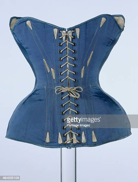 Back view of a corset c1851 This corset was sympathetically designed by Madame Roxy Caplin with minimal flexible boning to achieve fashionable curves...