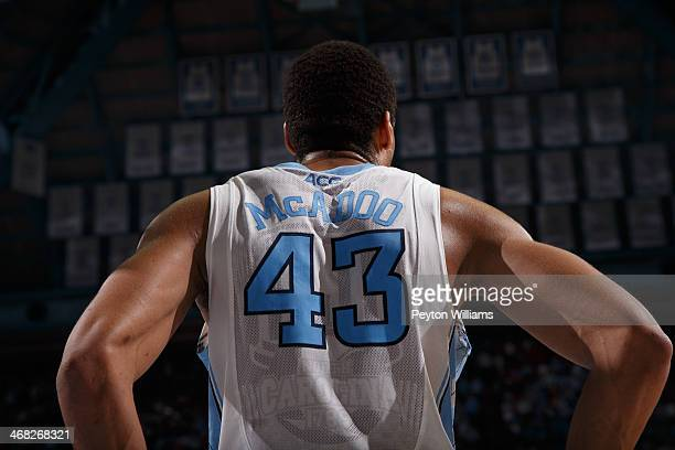 A back view of James Michael McAdoo of the North Carolina Tar Heels while he plays the North Carolina State Wolfpack on February 01 2014 at the Dean...