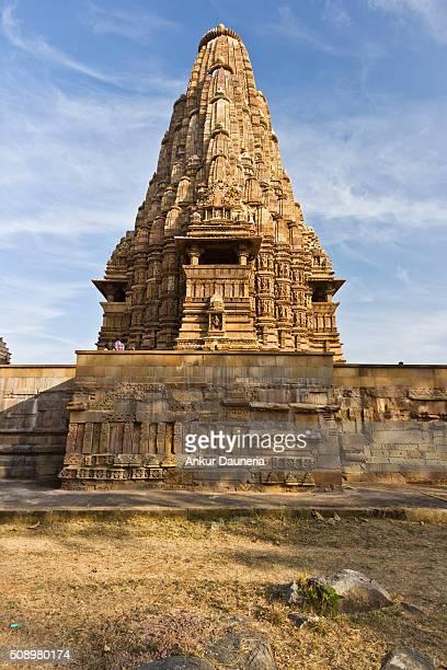 Back view of Kandariya Mahadeva Temple, Khajuraho, Chhatarpur District, Madhya Pradesh, India