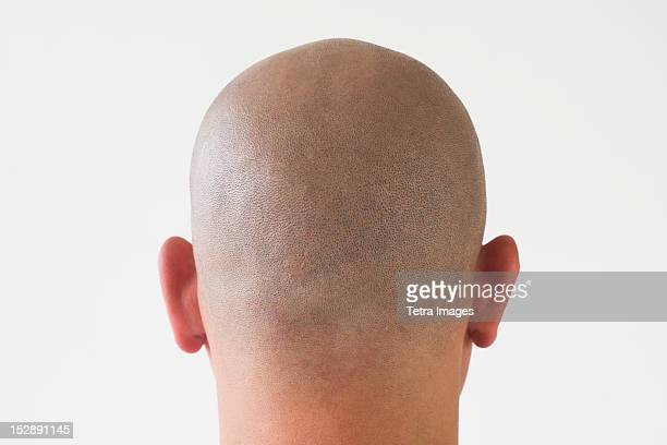 Back view of man with shaved head