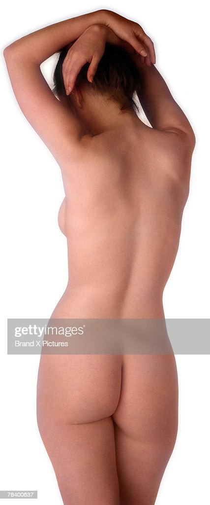 Back view of nude woman : Stock Photo