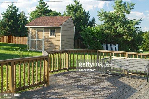 Back Yard Deck Swing & Barn