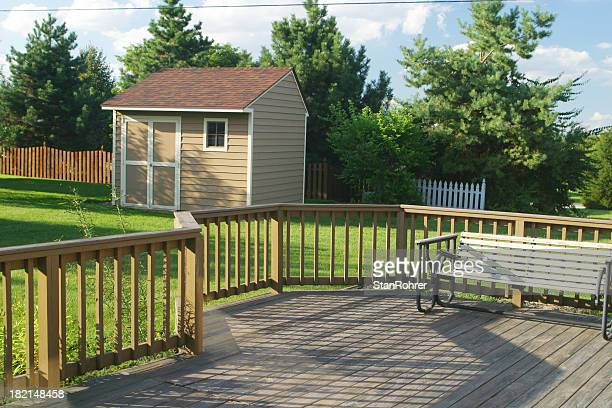 Back Yard Deck Swing & Barn