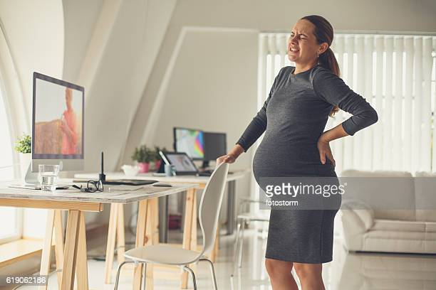 Backache at the end of pregnancy