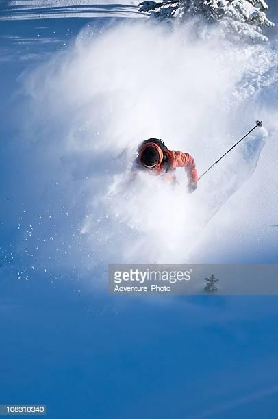 Backcountry Powder Skier Skiing Steep Terrain