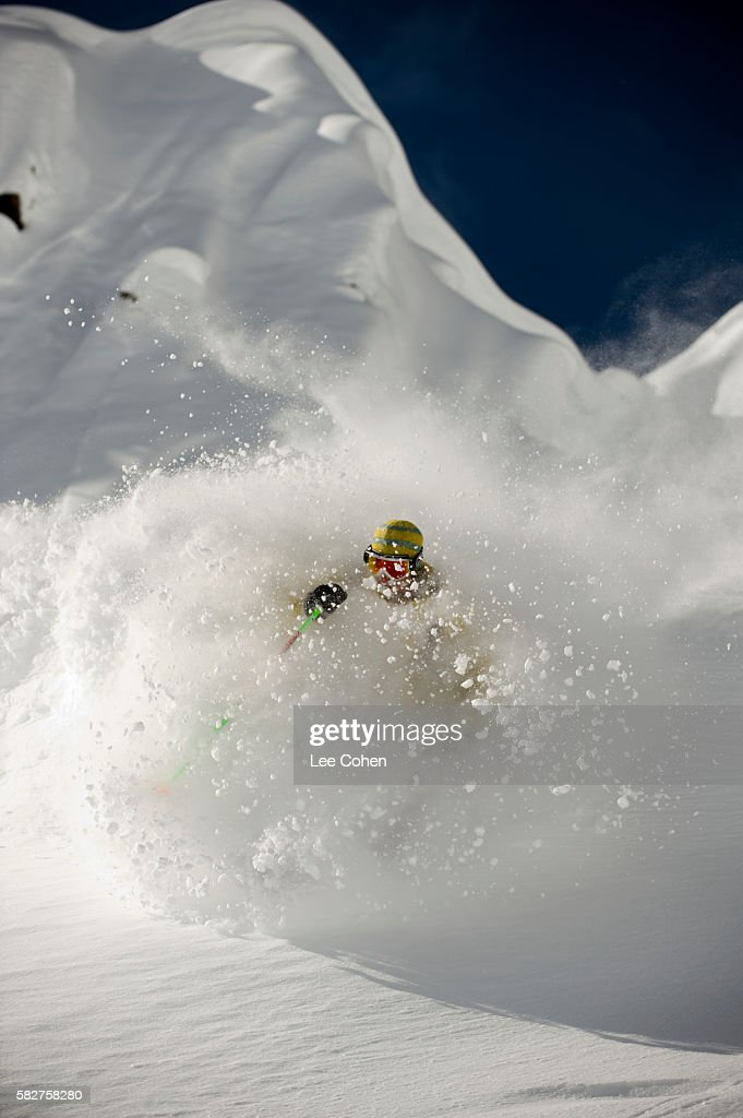 Backcountry powder skiing in the Wasatch Range