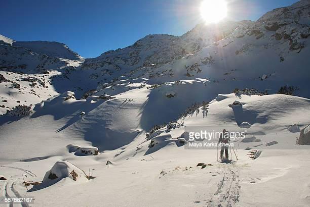 Backcountry ski touring in Pirin mountain