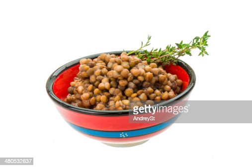 Backed lentils : Stock Photo