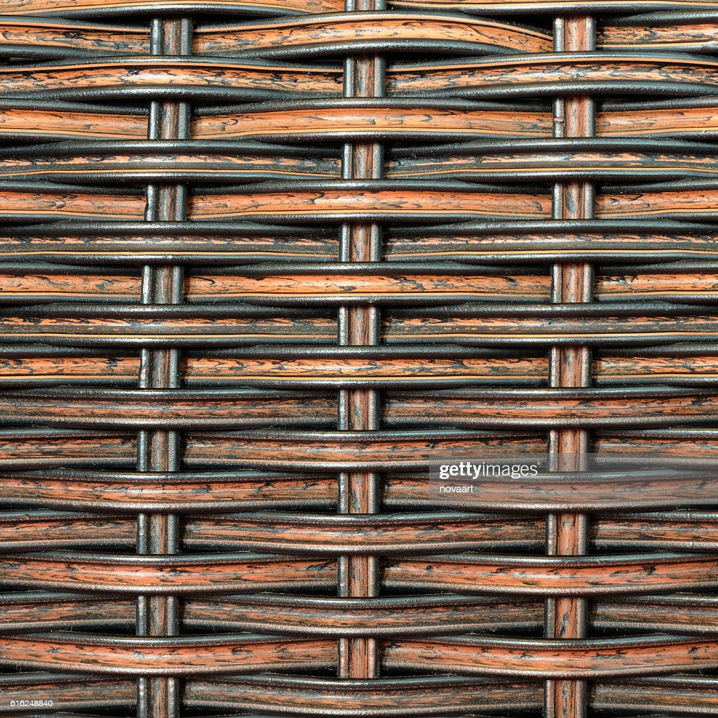 Background and pattern from Handicraft rattan : Stock Photo