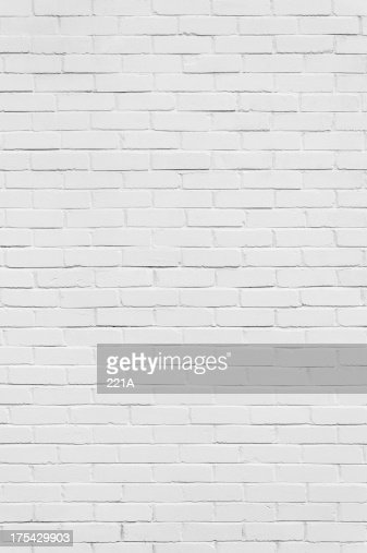 Background: brick wall painted white (vertical)